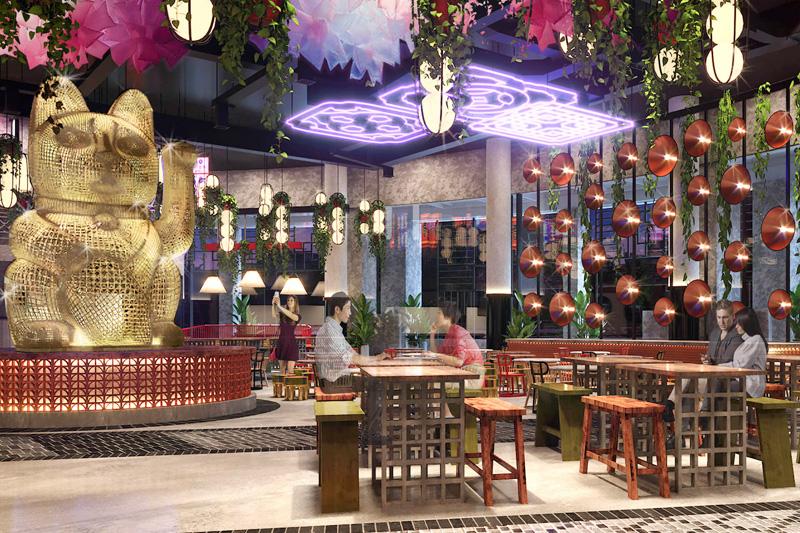 Resorts World lucky cat