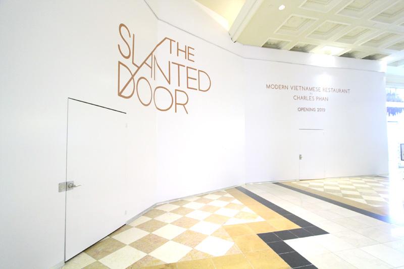Slanted Door closed