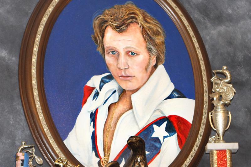 Evel Knievel portrait