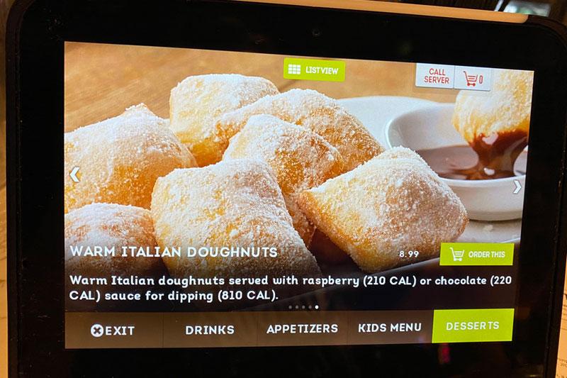 Olive Garden doughnuts